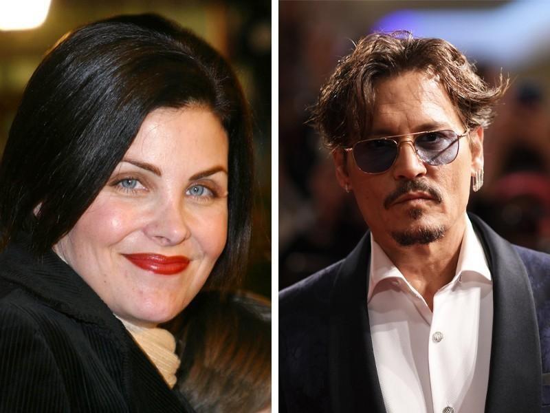 Sherilyn Fenn and Johnny Depp