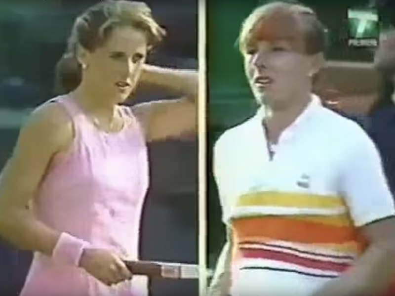 Tracy Austin and Martina Navratilova