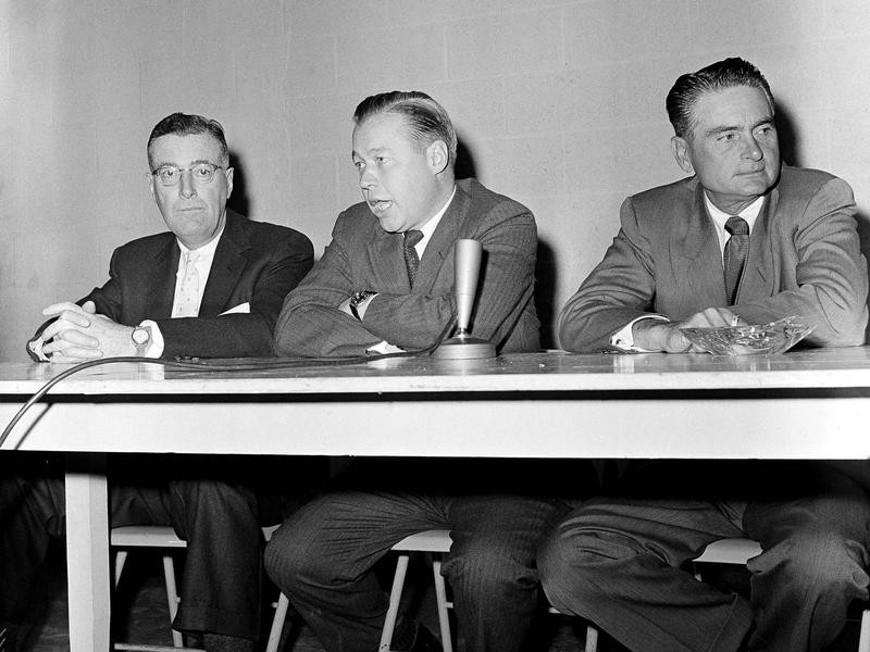 Paul Richards at press conference