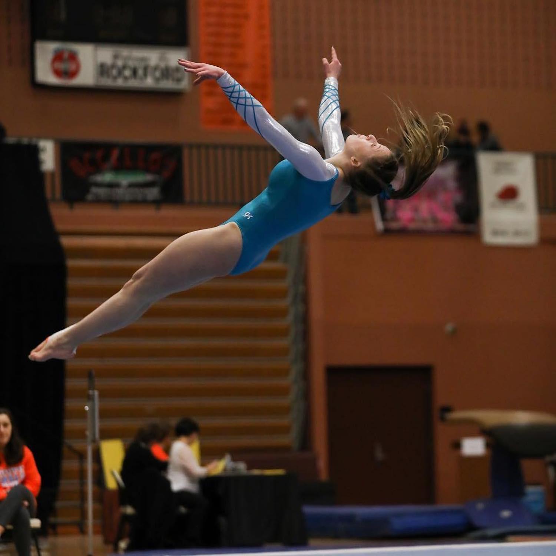 Rockford High School gymnast