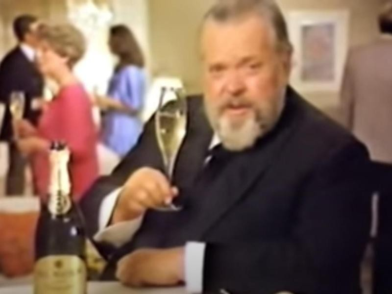 Orson Welles in 1980 commercial