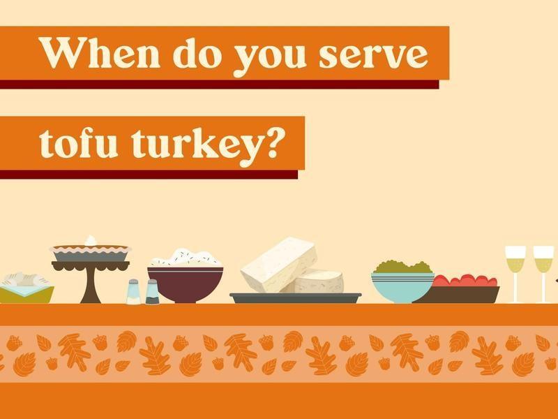 When do you serve tofu turkey?