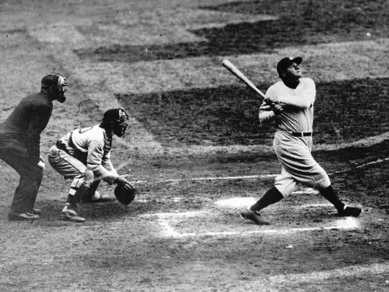 Babe Ruth home run swing
