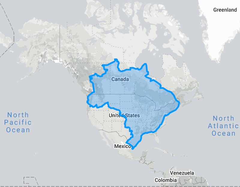 Brazil compared to North America