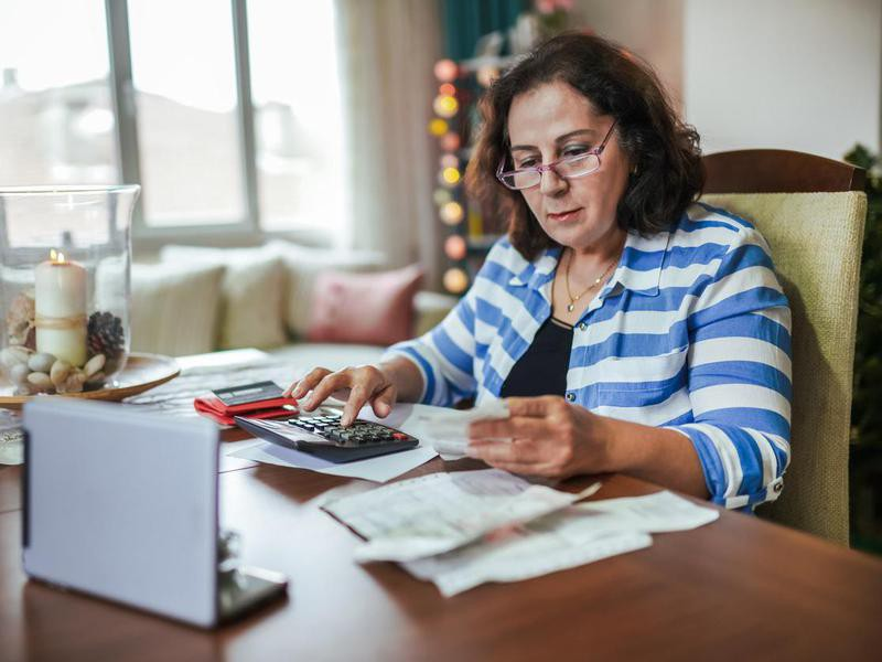 Retired woman managing on a low income