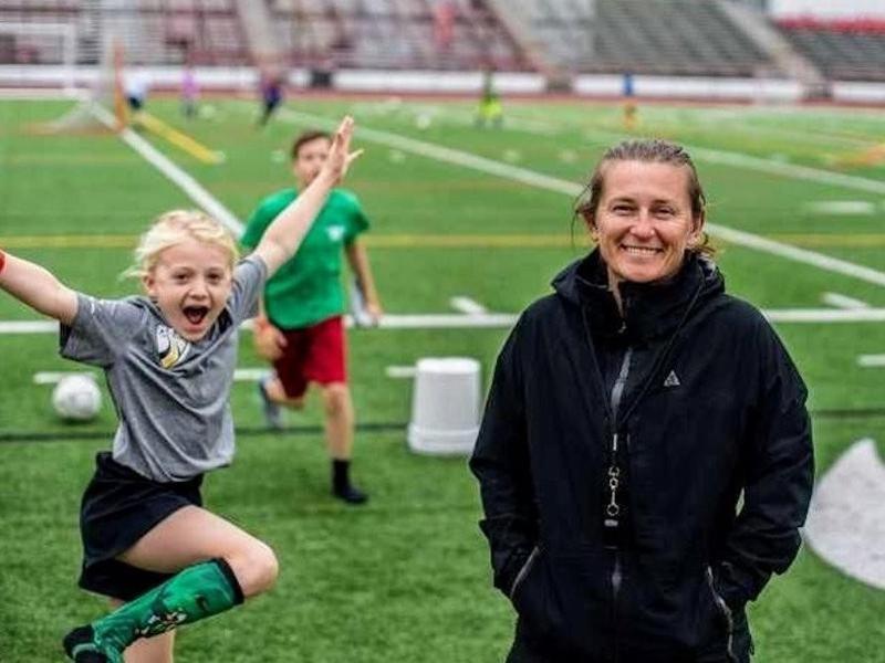 Youth soccer coach Tiffeny Milbrett
