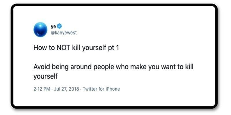 Kanye tweet about depression