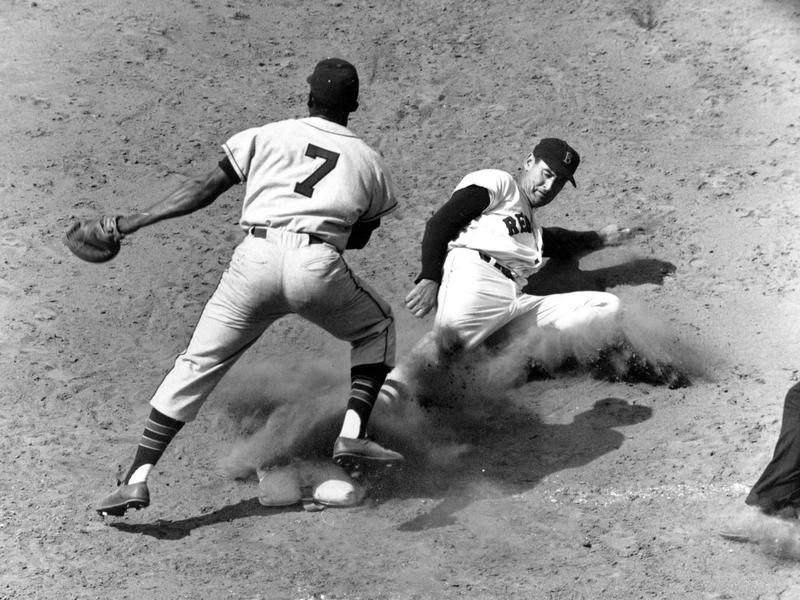 Vic Power and Ted Williams