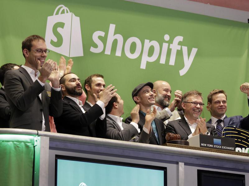 Shopify IPO day