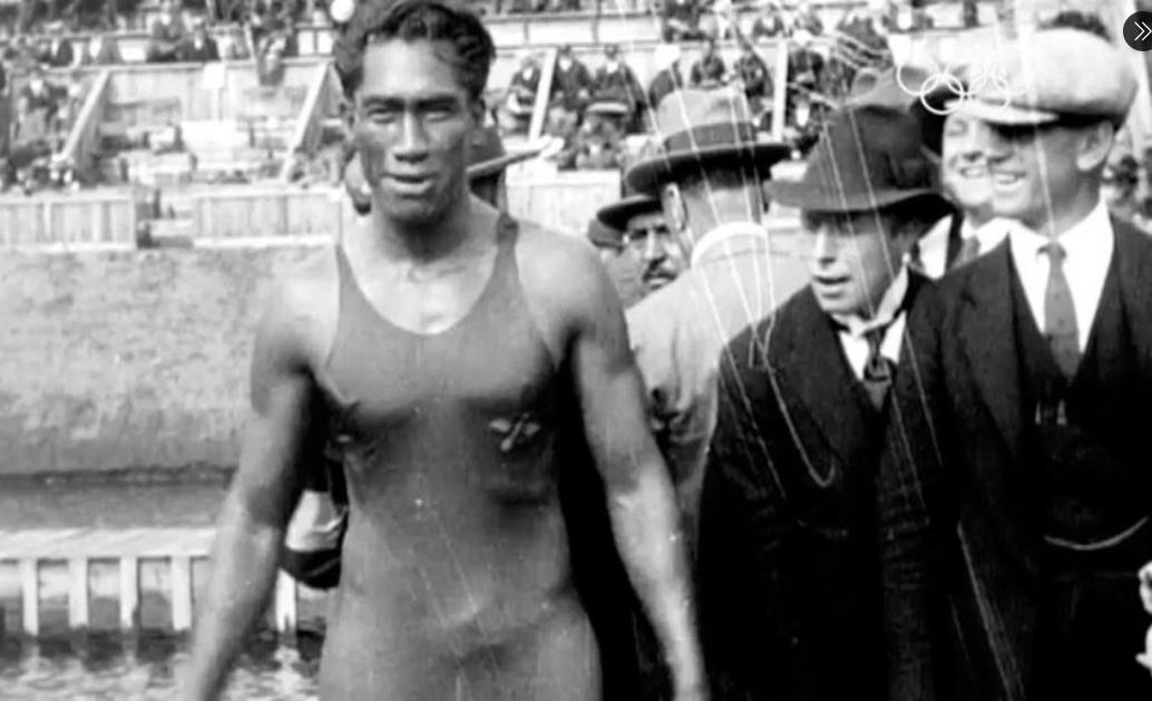 Duke Kahanamoku at 1912 Stockhold Olympics
