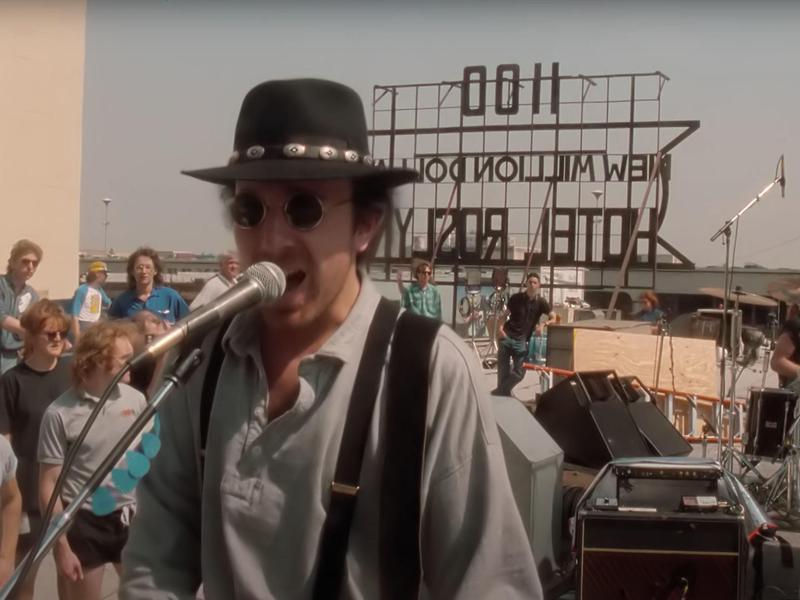 U2 on an L.A. Liquor Store's Rooftop