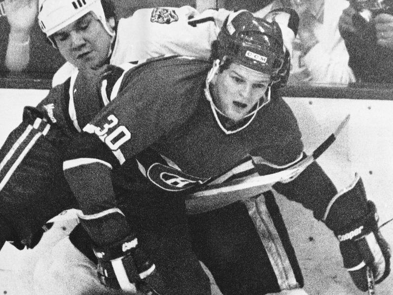 Montreal Canadiens right wing Chris Nilan