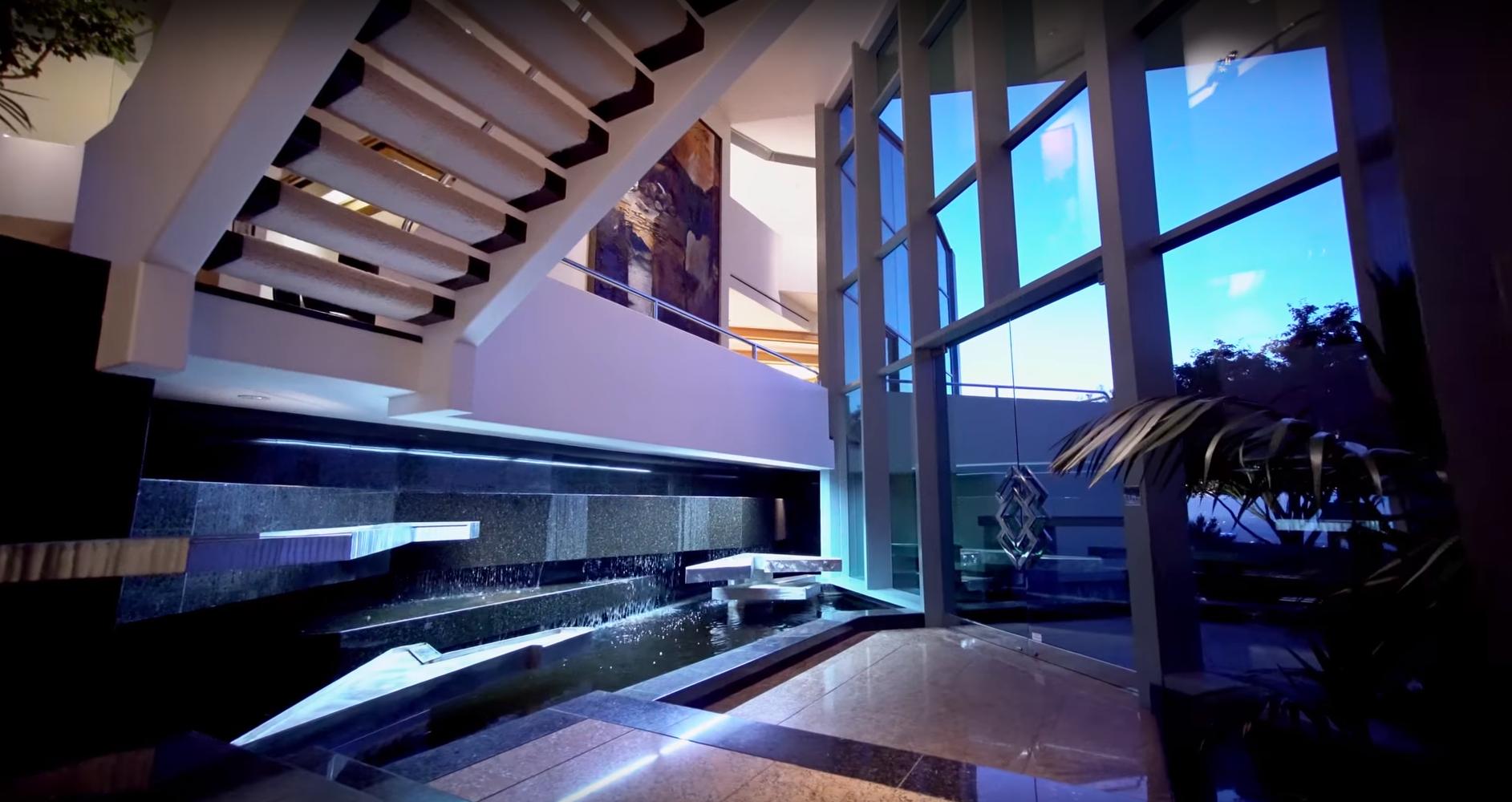 Pharrell Williams' interior water features