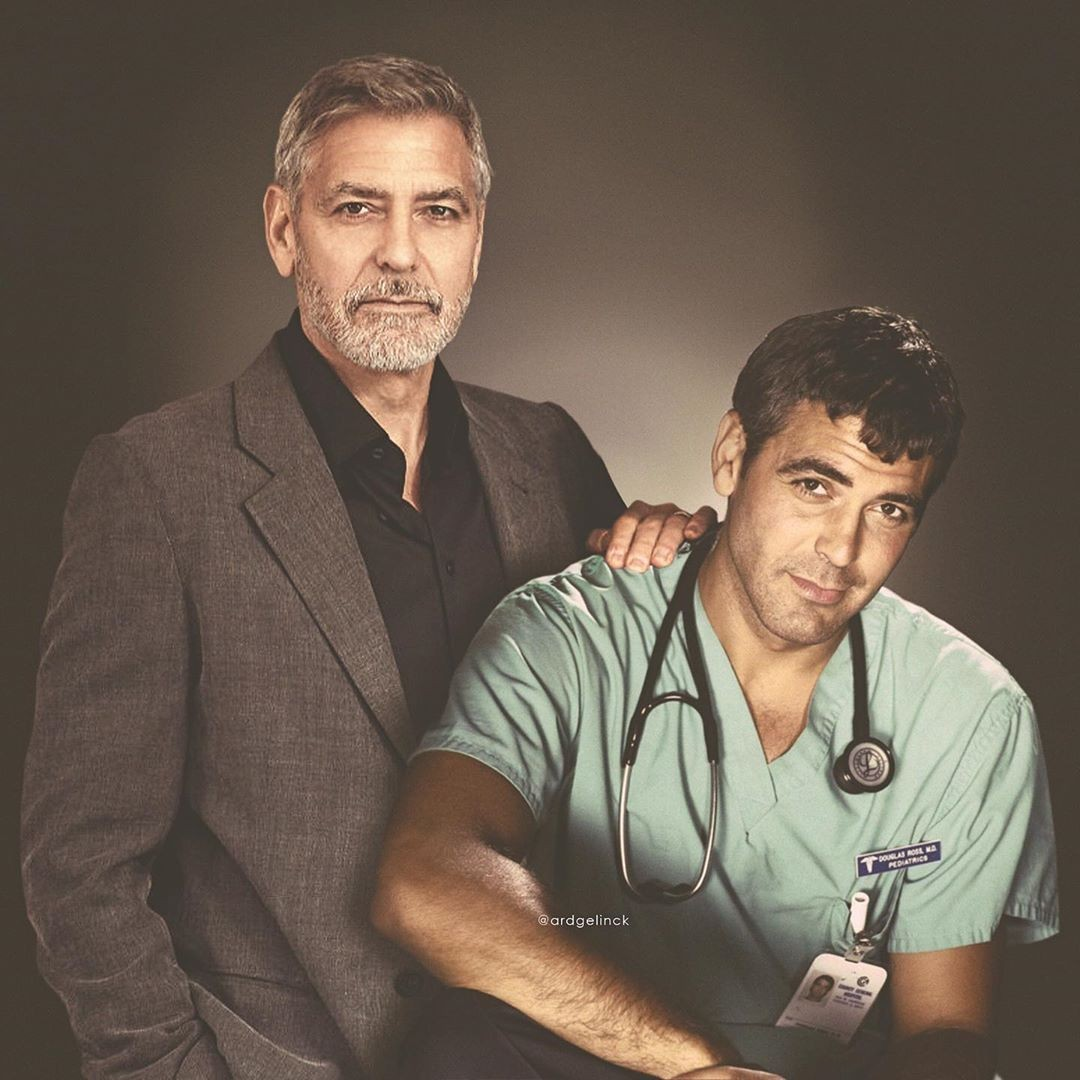 George Clooney and Dr. Doug Ross
