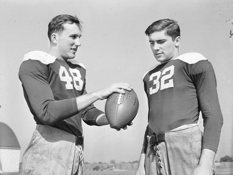 Angelo Bertelli and Johnny Lujack