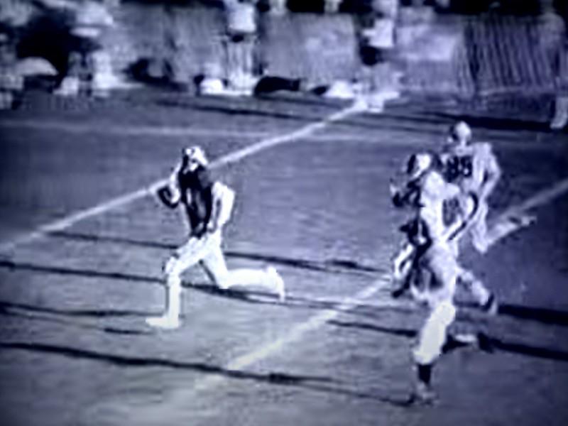 Willie Wilson playing high school football