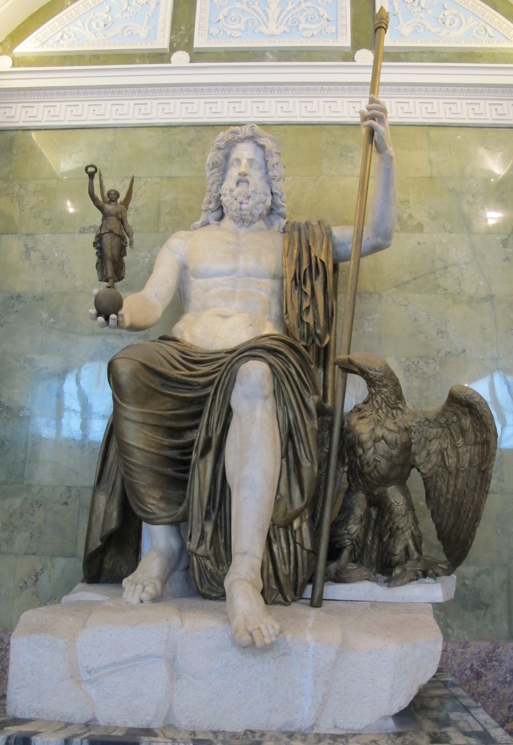 Statue of Jupiter at Hermitage