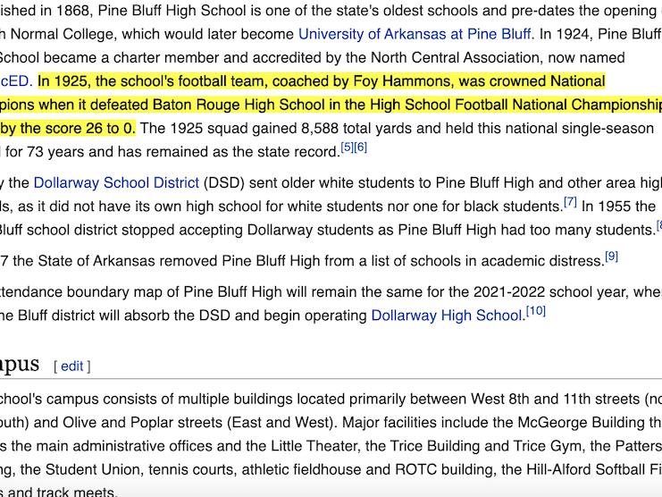 Pine Bluff High School