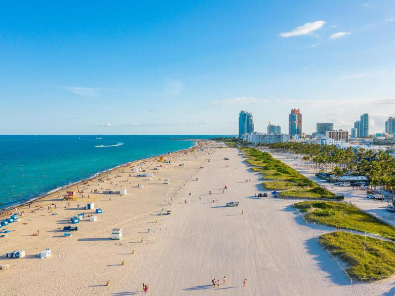 Aerial view of Miami Beach, Florida