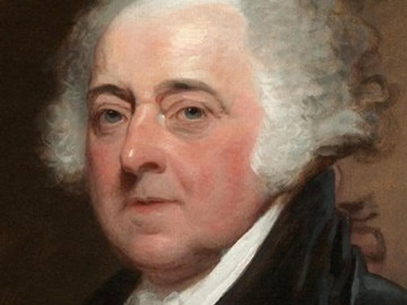 President John Adams in a painting