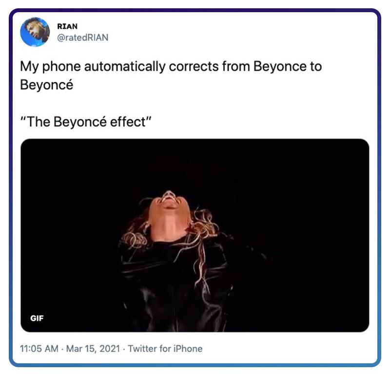 The Twitter Beyoncé Effect