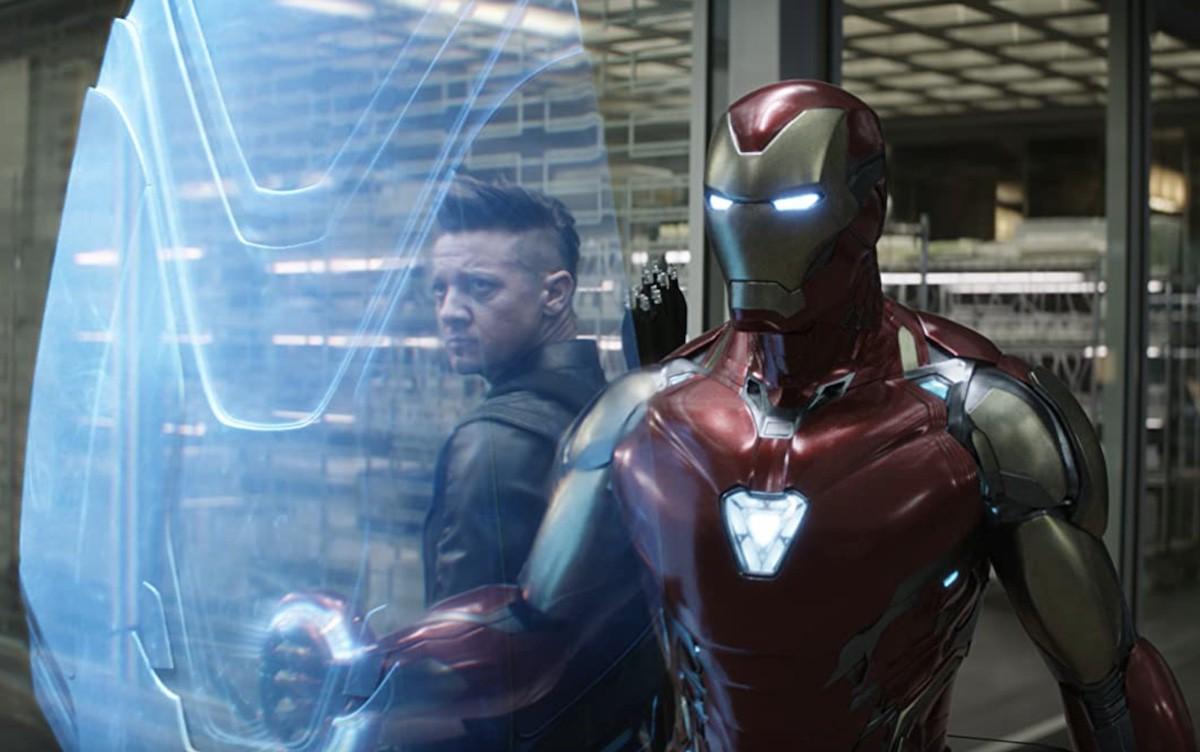 Jeremy Renner and Robert Downey Jr. in Endgame