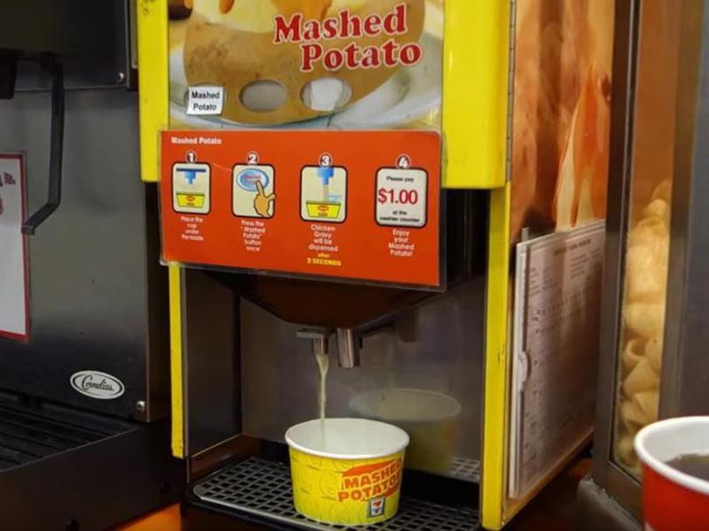 mashed potatoes vending machine