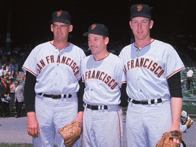 San Francisco Giants pitchers pose