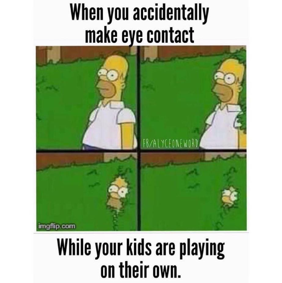Parents hiding meme