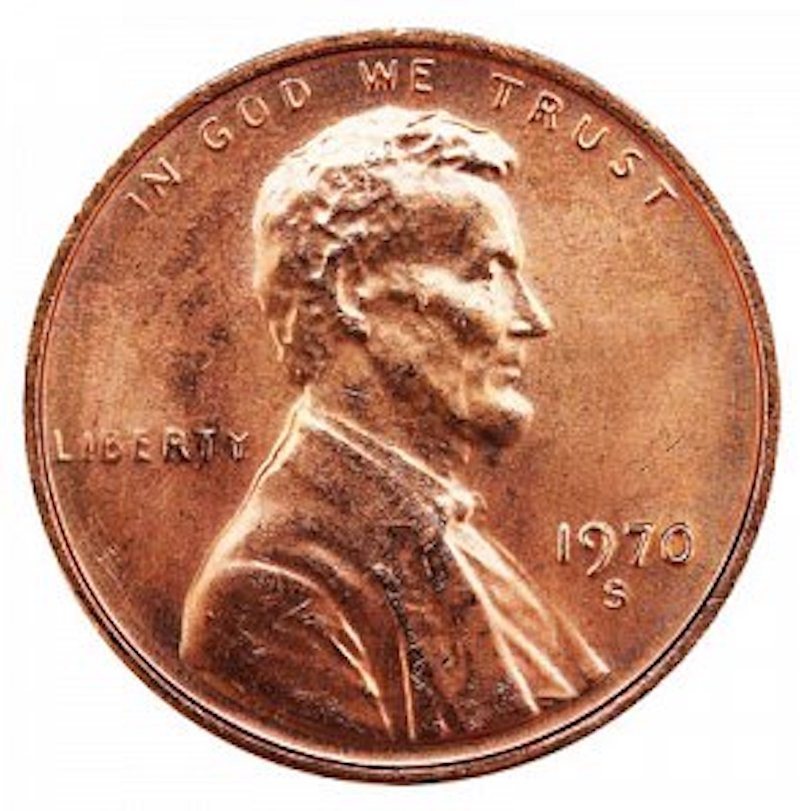 1970 S Lincoln Memorial Cent (Small Date - High 7)