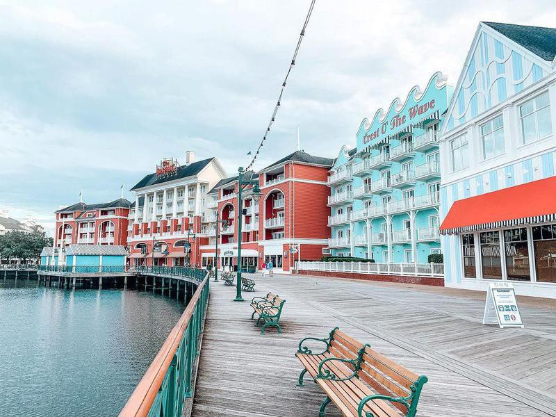 Boardwalk area at Disney's BoardWalk Inn