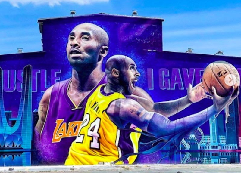 Kobe Bryant mural in China