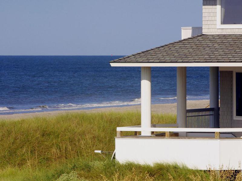 Beach view on Bald Head Island, North Carolina