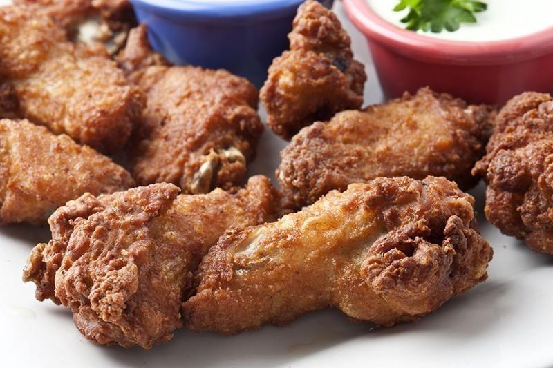 Deep fried wingettes