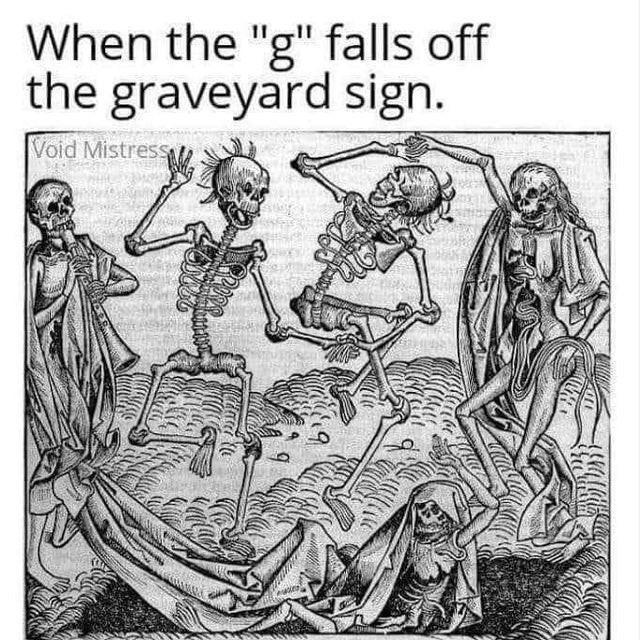 Grave party meme