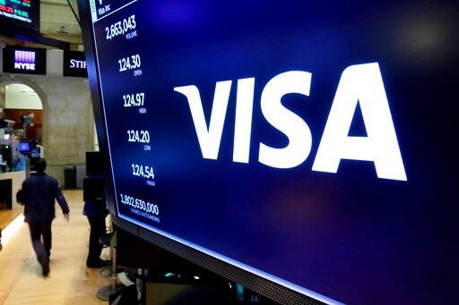 Blue Visa sign