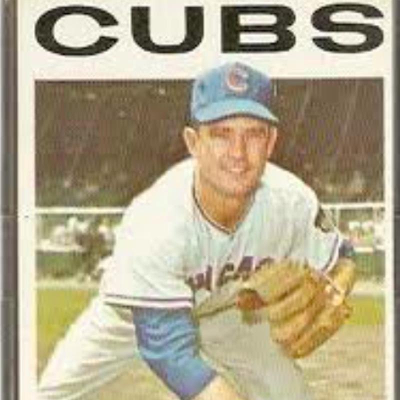 Larry Jackson on a baseball card