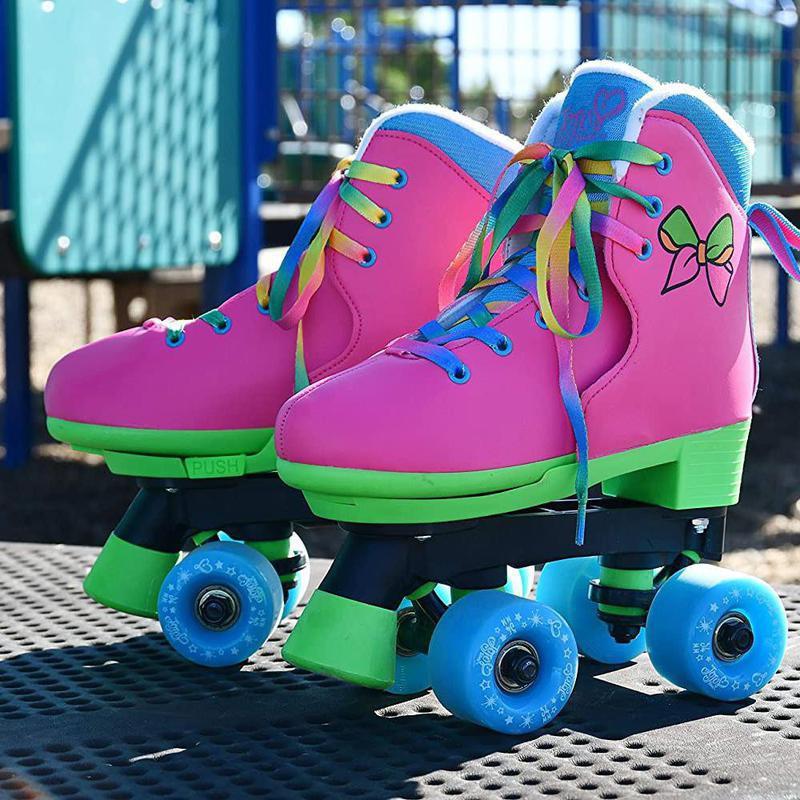 Circle Society classic adjustable indoor and outdoor roller skates - Jojo Siwa rainbow