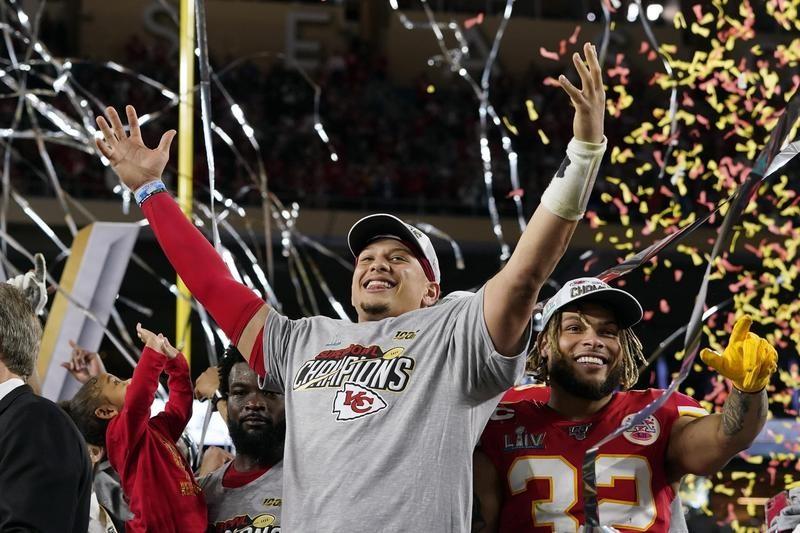 Kansas City Chiefs celebrate after winning Super Bowl LIV