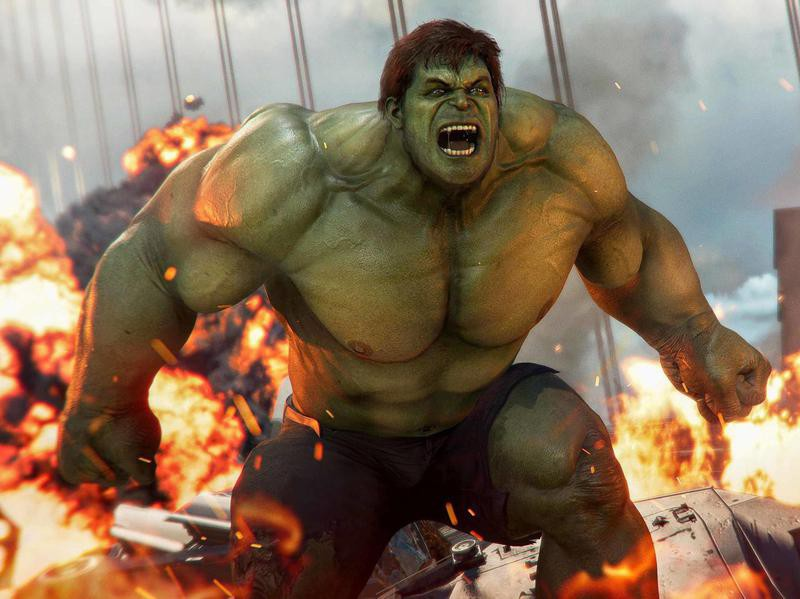 Hulk from the Marvel's Avengers video game