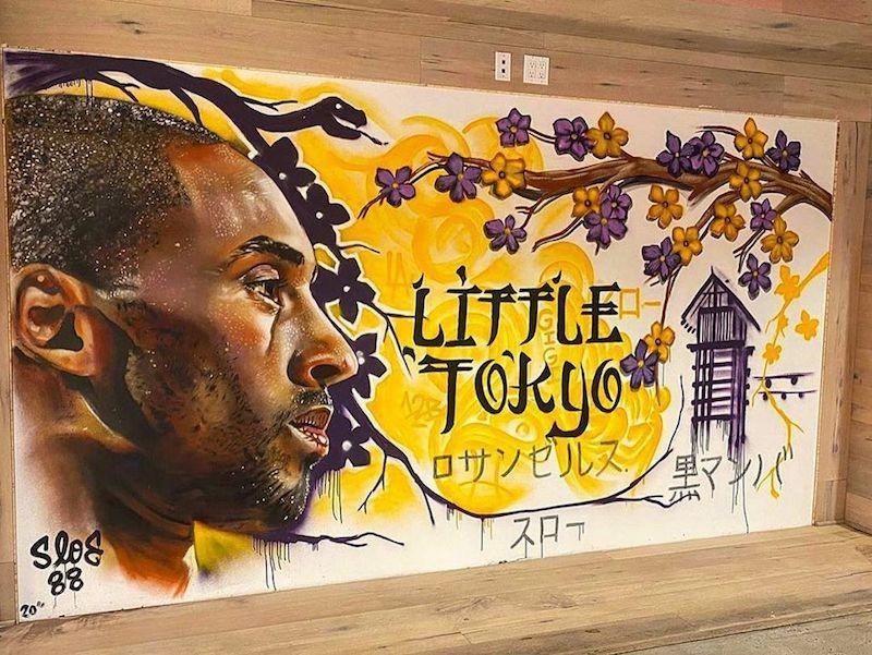 Kobe Bryant mural in Little Tokyo