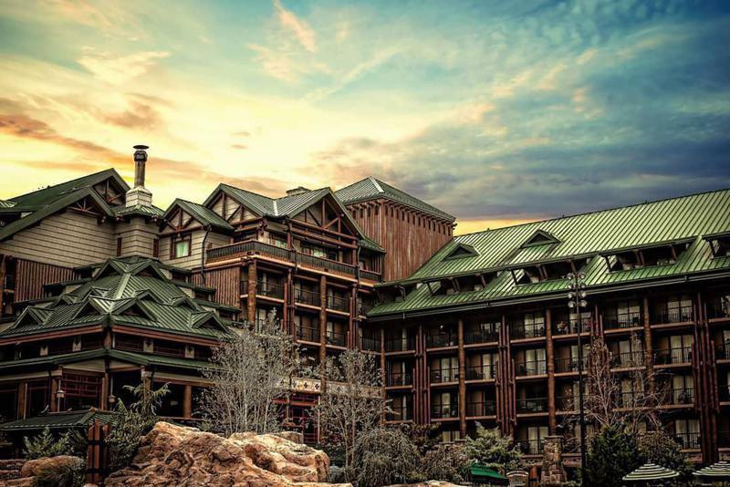 Exterior shot of Disney's Wilderness Lodge