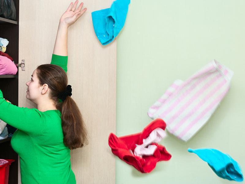 toss clothes