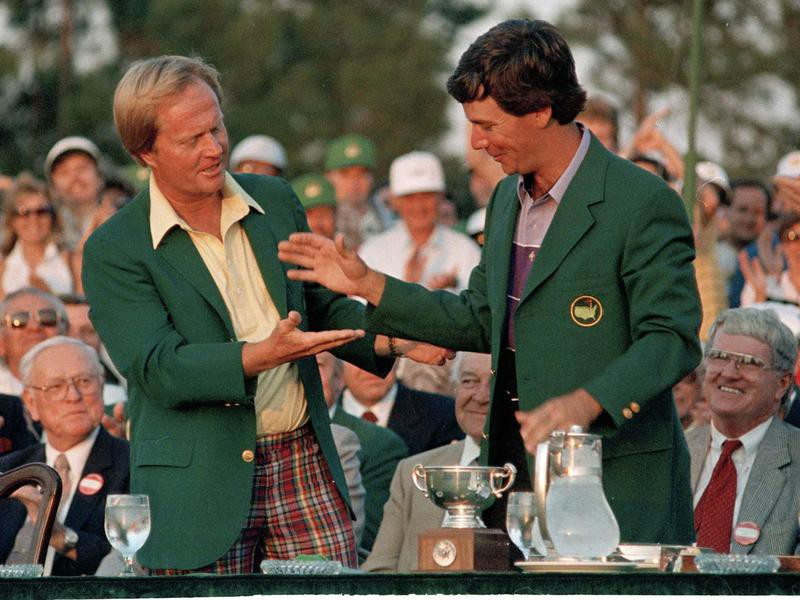 Jack Nicklaus and Larry Mize