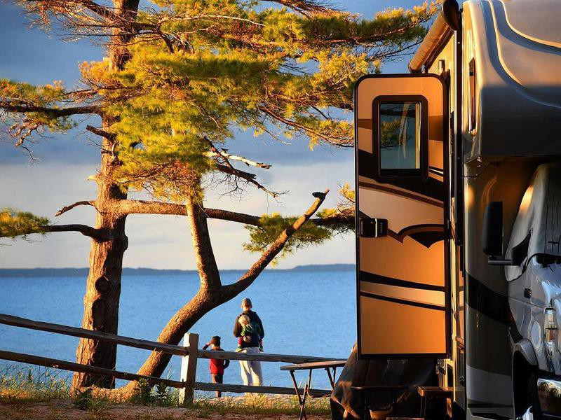 RV camping at Wilderness State Park