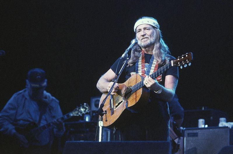Willie Nelson performs at the US Festival in San Bernardino, California in 1983.