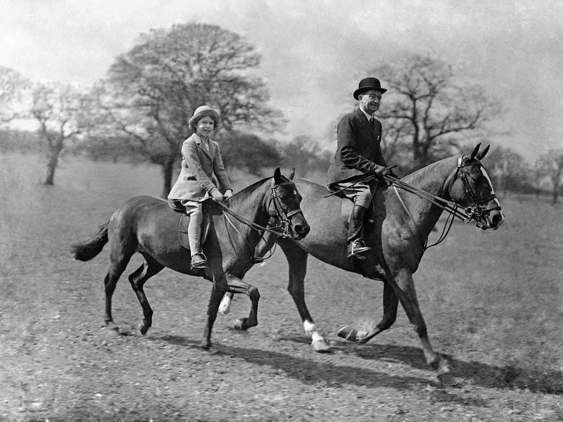 Princess Elizabeth riding horse