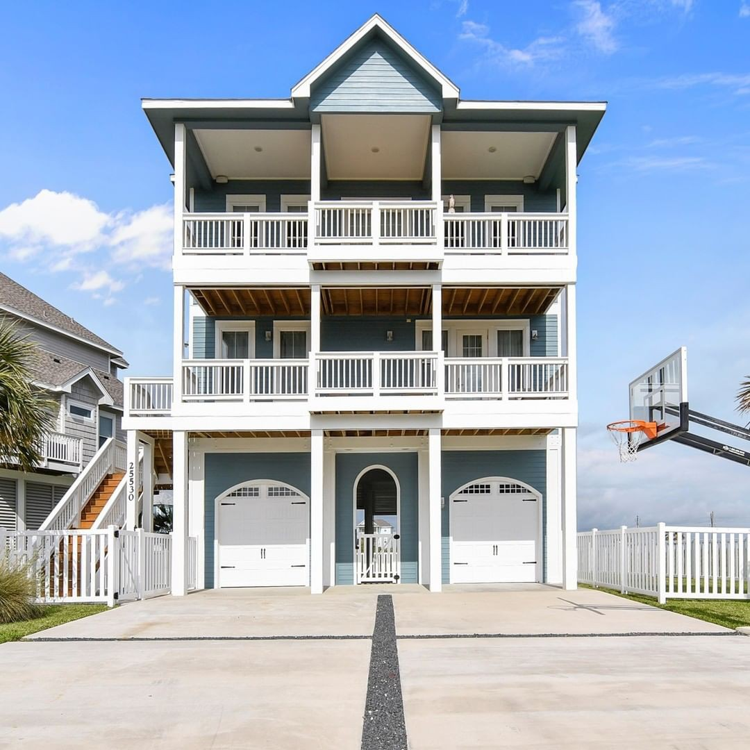 Beach house in Galveston, Texas