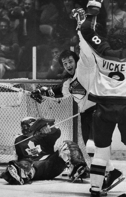 Rod Gilbert and Steve Vickers celebrate