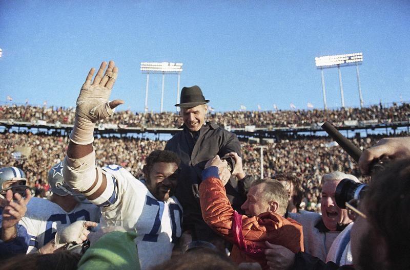 Tom Landry in Super Bowl VI